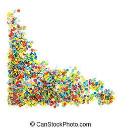 Colorful confetti corner