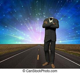Suit - Empty Suit on Road