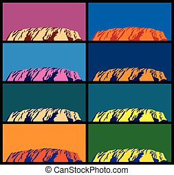 Ayers Rock - Australian attractions. Ayers Rock in different...