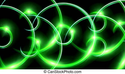 ring flare pattern green - The circle shape of ring lens...