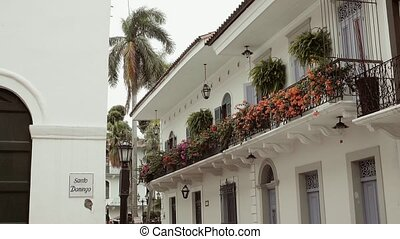 Santo Domingo Church And Old House In Casco Antiguo Panama -...