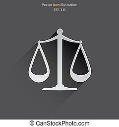 Vector scales balance web icon.