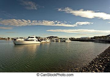 Idyllic picture of a marina