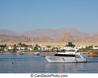 Bay with yachts in Egypt, Sharm el Sheikh