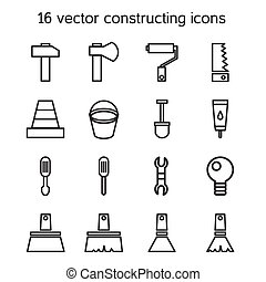 Constructing and building icons set