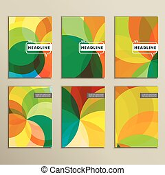 Set of 6 covers with abstract patterns