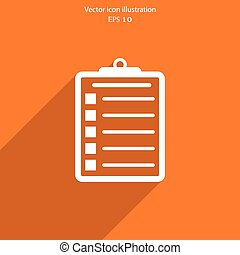 Vector clipboard web icon. - Vector clipboard web icon...