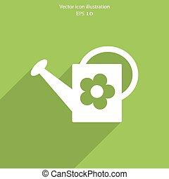 Vector bailer web icon - Vector bailer web flat icon. Eps 10...