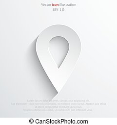 Vector map pointer web flat icon