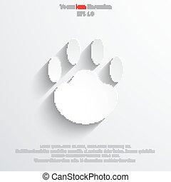 Vector paw web icon.