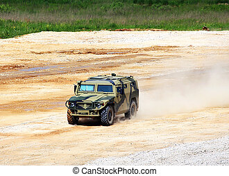 Military vehicle - Military all terrain truck with a metal...