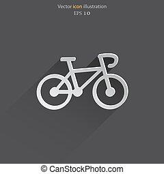 Vector bicycle web icon. - Vector bicycle web icon Eps 10.