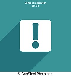 Vector exclamation web icon background. - Vector exclamation...