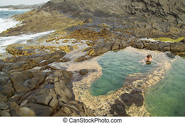 Gran Canaria, Banaderos area, rock pools - Gran Canaria,...