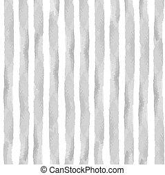 Watercolor grey strips seamless pattern set.Vintage...