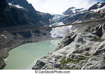 Trift suspension bridge - Suspension bridge at Trift...