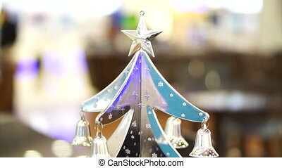 Christmas tree silver ornament