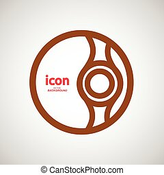 Vector abstract circle icon. Molecule color design.