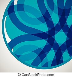 Vector abstract circle icon Molecule color design