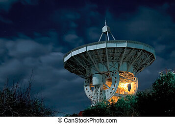 A radio telescope on the Black Sea in Crimea - One of the...