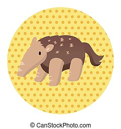 Animal Pangolin flat icon elements, eps10