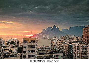 Ipanema Rio De Janeiro Brazil - view over tops of...