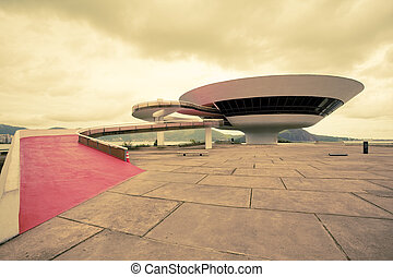 Niteri Contemporary Art Museum Rio De Janeiro Brazil