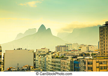 Urban Landscape Rio De Janeiro Brazil - view over tops of...