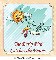 Early bird catches the worms