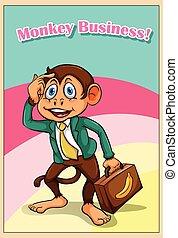 Monkey in formal attire
