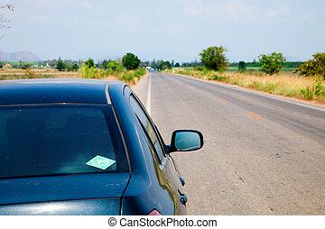 Car on Road Trip