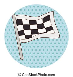 racing flags theme elements vector,eps
