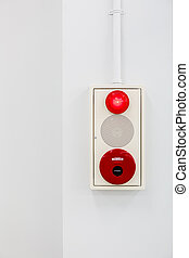 fire alarm on white wall