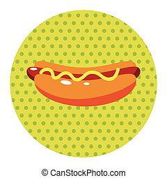 fast foods hotdog theme elements