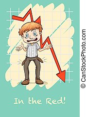 Idiom in the red illustration