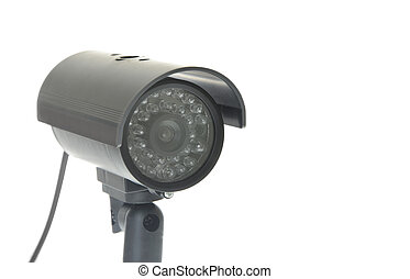 Covert Surveillance Camera Isolated on White Background