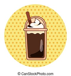 ice floating coffee theme elements