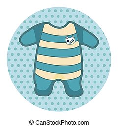 Baby clothes theme elements