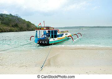 Catamaran on nusa penida beach, Bali Indonesia - Catamaran...