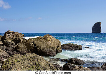 coastline at Nusa Penida island, Tembeling Nusa Penida, Bali...