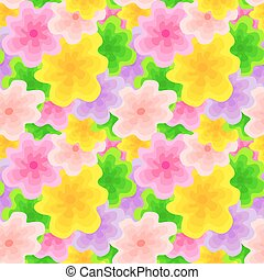 Color Floral Pattern