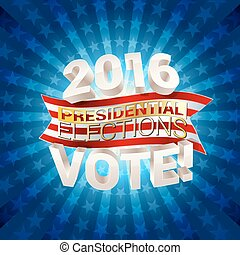 USA presidential elections background vector illustration
