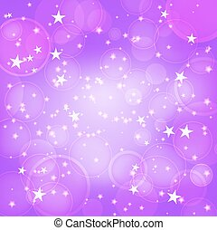 shining purple background with stars
