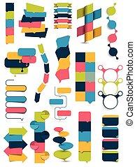 編號, 領域, 旗幟, 大,  infographic,  editable, 彙整, 沒有, 矢量, 簡單地, 正文,  collummn, 模板