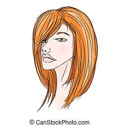 Beautiful redhead young girl