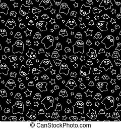 Seamless pattern ghost