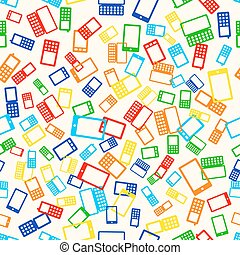seamless pattern phone - Seamless pattern with many mobile...