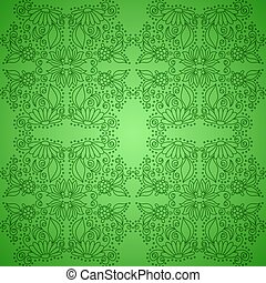 Seamless Vintage Green Pattern