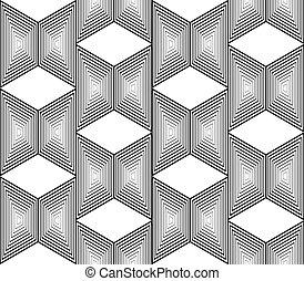 設計, seamless, 單色, 梯形, 幾何學, 圖案,