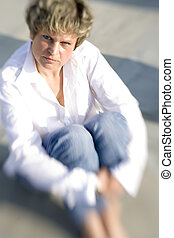 sit down - portrait of a woman named Tanja